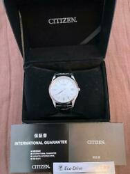 Citizen Exceed Aq1034-56e Cal.a010 Eco-drive Solar Mens Watch Authentic Working