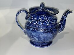 Historical Staffordshire Macdonoughs Victory Round Form Teapot Ca. 1825 Rare