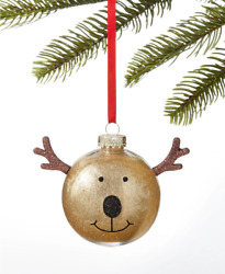 Holiday Lane Gold Reindeer With Antlers Christmas Tree Ornament 4 H