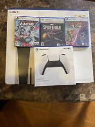 Sony Ps5 Blu-ray Edition Console Bundle- White