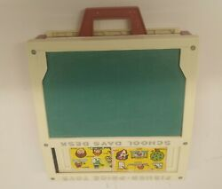 Vintage 1972 Fisher Price School Days Desk Portable Play Alphabet Learning