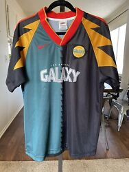 Authentic La Galaxy Nike First Jersey Original 1996 Mls Made In Usa Home Medium