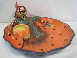 Fitz And Floyd Witch Hazel Serving Dish