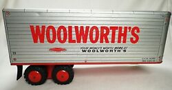 Vtg 1950 Woolworth's Pressed Steel Marx Toy Trailer Only Nice Free Ship