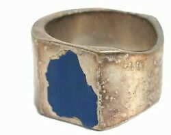 Martin Margiela Ring Men's Size 19.5 Silver Blue Jewelry Accessory Used