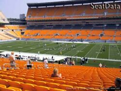 3 Pittsburgh Steelers Vs. Detroit Lions Club Seats Section 237 - Row A