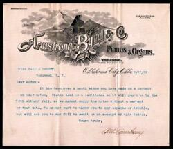 1903 Oklahoma City - Armstrong Byrd And Co - Pianos And Organs - Letter Head History