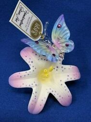 Glass Baron Butterfly Porcelain Lavender Lily Tx3 322