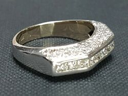 Stunning Secondhand 18ct White Gold Diamond Cocktail Ring Size O 1/2