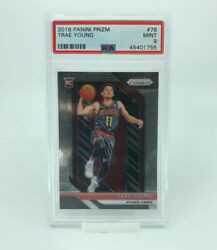 Trae Young Rc 2018-19 Panini Prizm Base Rookie Card 78 Psa 9 Mint Hawks Hot