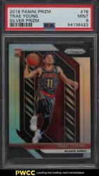 2018 Panini Prizm Silver Trae Young Rookie Rc 78 Psa 9 Mint