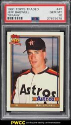 1991 Topps Traded Jeff Bagwell Rookie Rc 4t Psa 10 Gem Mint