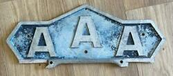 Aaa Vintage Authentic License Plate Frame Topper Automatic Signal And Sign