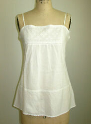 VINCE WHITE EMBROIDERED TUNIC MINI BEACH COVER UP $15.85