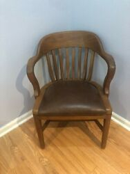 Sikes Bankers Chair With Leather Seat Local Pick Up In Houston Texas