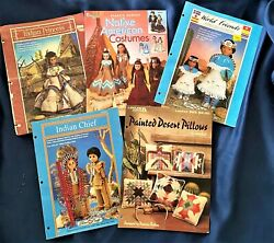 Vintage Crochet And Needlepoint Patterns, Doll Clothes And Costumes, Animals, Xmas..