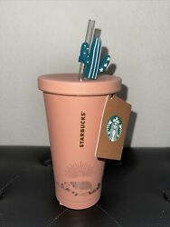 Nwt Starbucks Stainless Tumbler Cold Cup 18oz Hedgehog Adventure Cactus