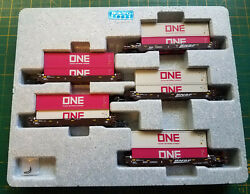 N Kato 106-6195 Bnsf Set Gunderson Maxi-well Cars W/containers Gray And Pink One