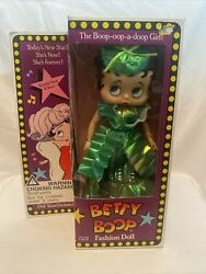 Betty Boop Fashion Doll Emerald Green Gown Stand 12 Tall 1986 By Marty Toy