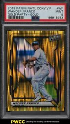 2019 Panini National Convention Vip Gold Wander Franco Rookie Rc /10 Psa 9 Mint