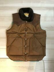 Rocky Mountain Feather Bed Size 40 Brown Nylon Menand039s Down Vest Used