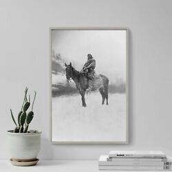 Edward Curtis - The Scout In Winter Crow 1908 Photo Poster Photograph Print
