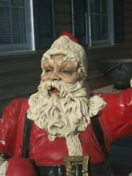 Antique Large 4and039 Santa - Piece Of Pomeroyand039s Reading Pa History Pickup Only