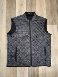New Greyson Golf Sioux Camo Quilted Vest Menandrsquos Size 2xl New Without Tags