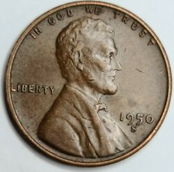 1950 S/s Repunched Mint Mark Lincoln Wheat Cent Usa Penny San Francisco Mint