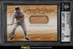 2001 SP Game Bat Edition Piece Of The Game Greg Maddux BAT PATCH BGS 9 MINT