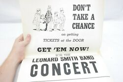 Leonard B. Smith Band Concert Poster Don't Take A Chance On Tickets At The Door