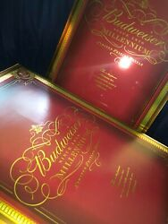 Budweiser Millennium Limited Edition Bottle With Glasses Still In The Box