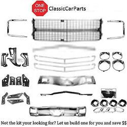 1970 Chevelle Bumpers Front/rear Brackets Complete Grille W/moldings Bezels +