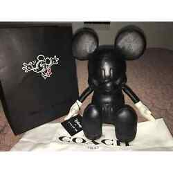 Disney X Coach Mickey Mouse Doll Collectible Limited Edition Leather 13 Small