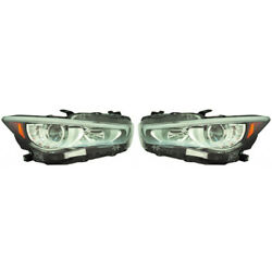 For Infiniti Q50 Headlight Assembly 2018 2019 Pair Rh And Lh Side Capa In2502179