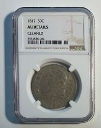 1817 Punctuated Date - Ngc - Capped Bust Half Dollar Au Details O.103 / R3