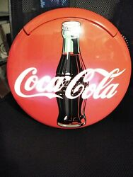 Vintage 1995 Coca-cola Sign Button Phonelights Up And Ringseuc