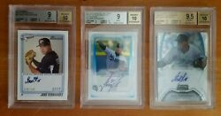 2011 Bowman Chrome And Sterling And Aflac Jose Fernandez Signed 3-card Rc Lot