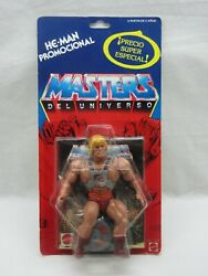 Motu,vintage,he-man,promocional,clear,masters Of The Universe,moc,sealed