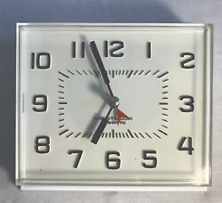 """Vintage Westclox Electric Wall Clock General Time 7"""" X 6"""" With Original Box"""
