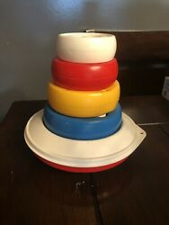 Vintage Childrenandrsquos Tupperware Stacking Tupper Toy Lighthouse Buoy Free Shipping