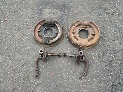 1942-1948 Ford Front Spindles Juice Brakes Backing Plates Flathead 1932 37-41