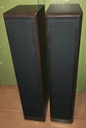 Vintage Pair Of Technics Sb-t300 Speakers System Towers Nice And Play Nice