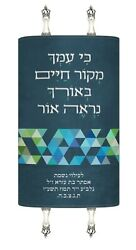 New Mantle Costume Made Sefer Torah Cover Jewish Art Israel Made Triangle