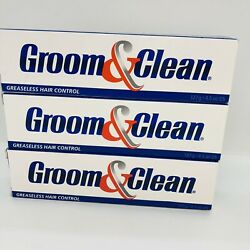 3x Groom And Clean Mens Greaseless Hair Control 4.5 Oz