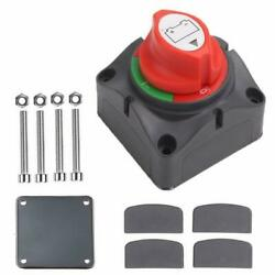 Dual Battery Selector Switch Disconnect For Marine Boat Rv Vehicles On-off New