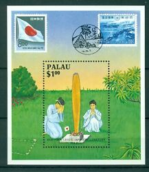 Palau 1987 S/sheet Mnh Connections With Japan - Mi. No Bl 2