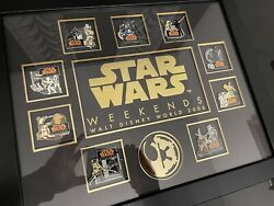 Star Wars Weekends 2006 Limited Edition Framed Pin Set