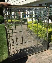Antique Architectural Window Beveled Prisms And Beveled Leaded Glass B