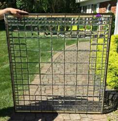 Antique Architectural Window Beveled Prisms And Beveled Leaded Glass A